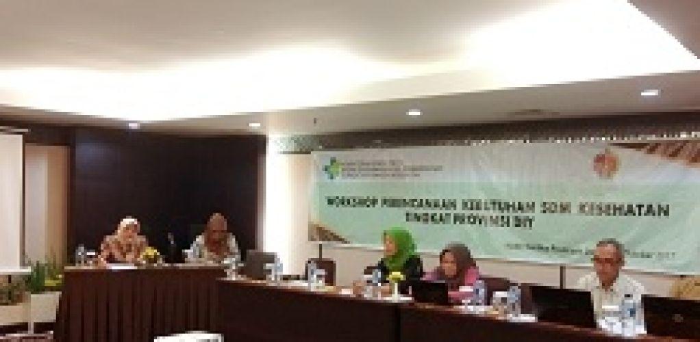 Workshop Perencanaan Kebutuhan SDM Kesehatan Tingkat Provinsi